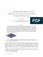 Strategies for Opening New Schools a Planning Guide for School Personnel 2