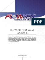 Blow-Off Test Valve Analysis