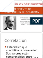 Coeficiente de Correlacion de Spearman