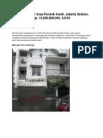 Jual Rumah Di Area Pondok Indah, Jakarta Selatan, Rp. 10,000,000,000, 12310 - Www.rumahku.com