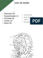 puntos de auriculoterapia para Dolor de Tobillo