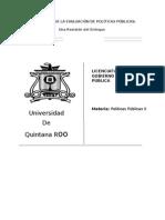 caminos de la evaluación de  Políticas Publicas