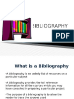 Bibliography Ppt