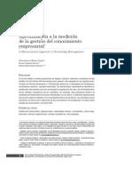Aproximación a La Medición de La Gestión Del Conocimiento Empresarial-2011