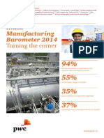 India Manufacturing Barometer 2014 Turning The Corner