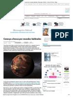 Começa a Busca Por Mundos Habitados _ Mensageiro Sideral - Folha de S