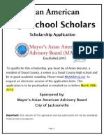 MAAAB 2014 Scholarship Form