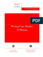 Case Writing Manual
