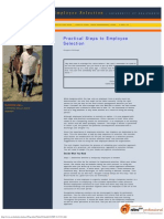 Practical Steps to Employee Selection