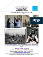 City College Plymouth Archaeology and Society Module Guide 2009-10