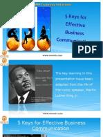 5 Keys for Effective Business Communication