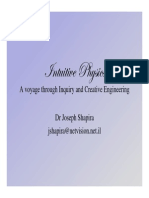 Intuitive physics -educational road to creativity