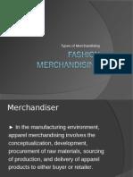 types of Merchandising