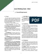 Structural Welding Code—Steel