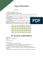 Sopa MatemáTica