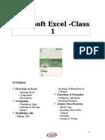 Excel Tutorial1