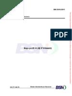 SNI 2610-2011 Baja Profil H (Bj P H-beam)