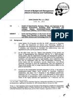 DBM Circ. Interagency Honorarium