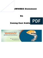 OaklandWORKS Statement On Zoning East Oakland