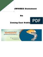 OaklandWORKS Statement On Zoning East Oakland