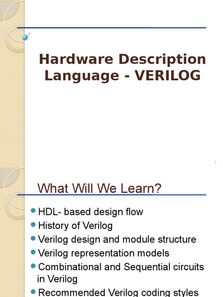hdl | Hardware Description Language | Vhdl