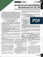 Aplicarea Normativului CD 155