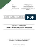 Norme Cameroun NC 235