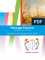 Message Pastoral MgrJYNahmias 2015