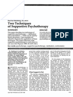 Two Techniques of Supportive Psychotherapy - Paul Ian Steinberg