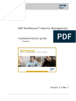 SAP NetWeaver Identity Management Implementation Guide - Transport