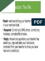 Marking Reflection Slide
