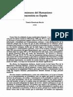Comienzos del Humanismo renacentista en España