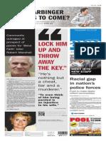 Asbury Park Press front page Thursday, Jan. 22 2015