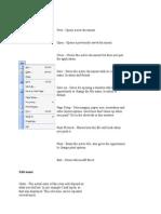 Excel Menu Notes