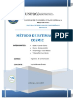 Metodo de Estimacion COSMIC