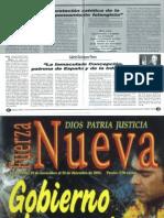 La interpretación católica de la vida en el pensamiento falangista. Conferencia Aula FN. José María Permuy.