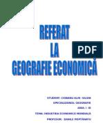 Industria Economiei Mondiale