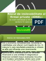 Riscul de Inslovabilitate Al Firmei Private IONEL-Demici Ana FB 129