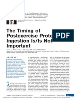 The Timing of Postexercise Protein Ingestion is-Is Not Important