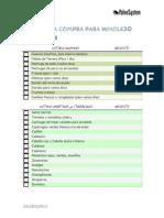 Primera Semana Whole30 Listado de La Compra Paleosystem