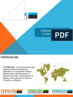 Presentación Corporativa Vonselma Enterprise 2015