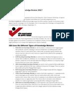 What is an ODI Knowledge Module