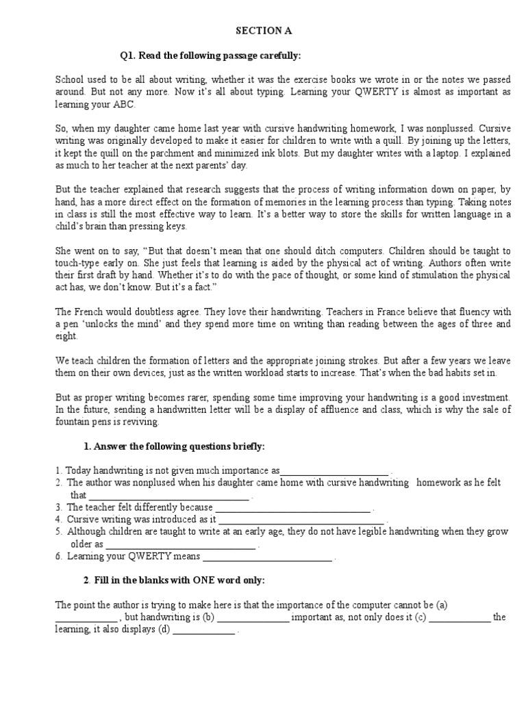 English Exercises 14 | Writing