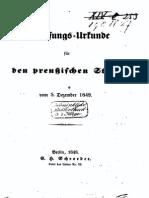 Verfassungs-Urkunde für den preußischen Staat