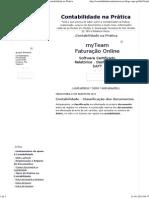 Contabilidade - Classificação Dos Documentos - Contabilidade Na Prática