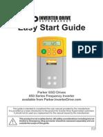 Parker SSD 650 Easy Start Guide