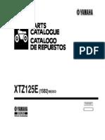 XTZ125 Parts Manual