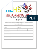 unit 7a lighting log