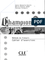 Champion 1 Cahier d'exercices