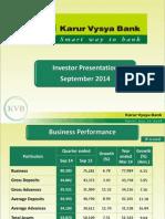 Karur Investor Presentation Sep14